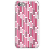 Girly pink modern retro abstract pattern iPhone Case/Skin