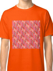 Girly pink modern retro abstract pattern Classic T-Shirt