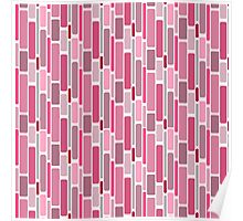 Girly pink modern retro abstract pattern Poster