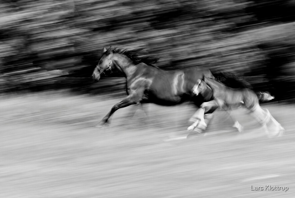 Black and White Runners by Lars Klottrup