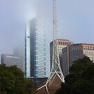 Eureka Tower shrouded in mist by Ian Stevenson