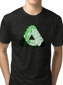 Abstract Geometry: Neon Forest (Dark Green) Tri-blend T-Shirt