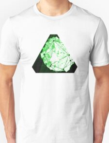 Abstract Geometry: Neon Forest (Dark Green) Unisex T-Shirt