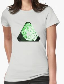 Abstract Geometry: Neon Forest (Dark Green) Womens Fitted T-Shirt
