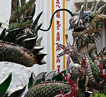 The Mosaic Dragon - Hoi An, Vietnam. by Tiffany Lenoir