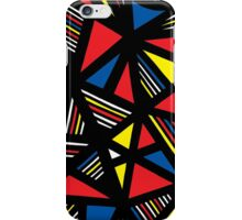 Teele Abstract Expression Yellow Red Blue iPhone Case/Skin