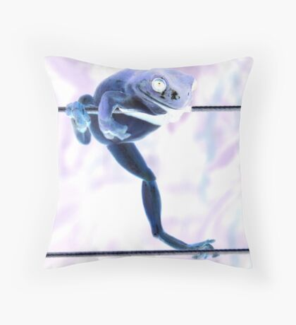 !!!AAAHHHH!!!  live wires Throw Pillow
