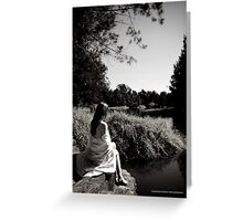 Contemplation on the Shore Greeting Card