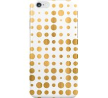 Trendy gold faux leaf modern polka dots pattern iPhone Case/Skin