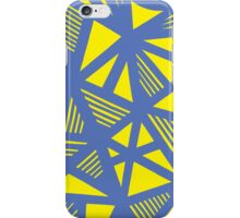 Munderville Abstract Expression Yellow Blue iPhone Case/Skin