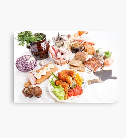 various meal type  Canvas Print