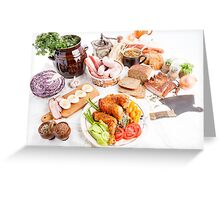 various meal type  Greeting Card