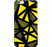 Coulon Abstract Expression Yellow Black iPhone Case/Skin