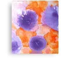 Flora:  Abstract Flower Design Canvas Print