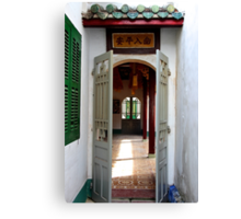 Through the Temple Doors - Hoi An, Vietnam. Canvas Print