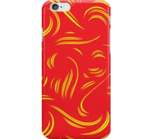 Wantz Abstract Expression Yellow Red iPhone Case/Skin