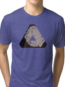 Abstract Geometry: Metallic City (Brown/Gold) Tri-blend T-Shirt