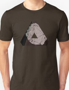 Abstract Geometry: Metallic City (Brown/Gold) Unisex T-Shirt
