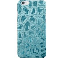 Vintage turquoise abstract animal print pattern iPhone Case/Skin