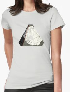 Abstract Geometry: Embers (Brown/Gold) Womens Fitted T-Shirt