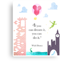 "I Love Disney! - ""If You Can Dream It..."" Metal Print"