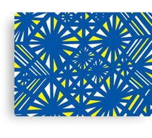 Fellenz Abstract Expression Yellow Blue Canvas Print
