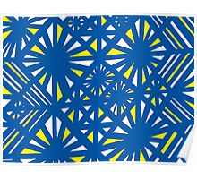 Fellenz Abstract Expression Yellow Blue Poster