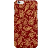 Gold Paisley  iPhone Case/Skin