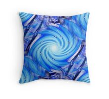 Cyclone in Blue Throw Pillow