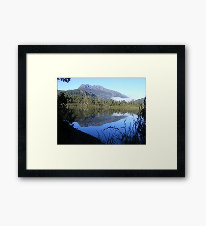reflections of Mt Murchison (Tasmania) Framed Print