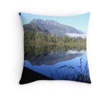 reflections of Mt Murchison (Tasmania) Throw Pillow