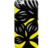Houpe Abstract Expression Yellow Black iPhone Case/Skin
