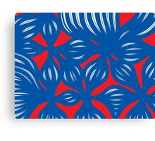Balagtas Abstract Expression Red Blue Canvas Print