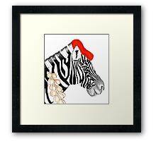 Parisian Zebra Framed Print