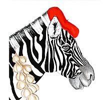 Parisian Zebra Photographic Print