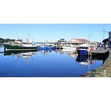 moored at Strahan, Tasmania Photographic Print