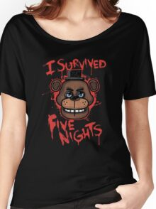 I Survived Five Nights At Freddy's Pizzeria Women's Relaxed Fit T-Shirt