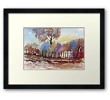 Bluegum view Framed Print