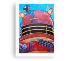 Retro Dalek - celebrating 50 years of Dr Who Canvas Print