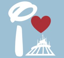 I Heart Space Mountain (Inverted) Kids Tee