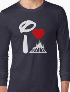 I Heart Space Mountain (Inverted) Long Sleeve T-Shirt