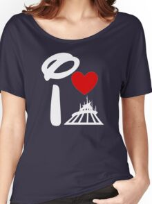 I Heart Space Mountain (Inverted) Women's Relaxed Fit T-Shirt