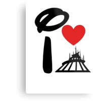 I Heart Space Mountain (Inverted) Metal Print