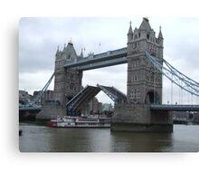 Tower Bridge Opening Canvas Print