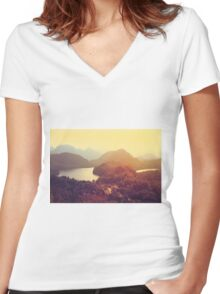 Austrian Landscape Women's Fitted V-Neck T-Shirt