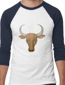Bulls Head. Men's Baseball ¾ T-Shirt
