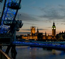 House's of Parliment and Millenium Eye by philcraswell