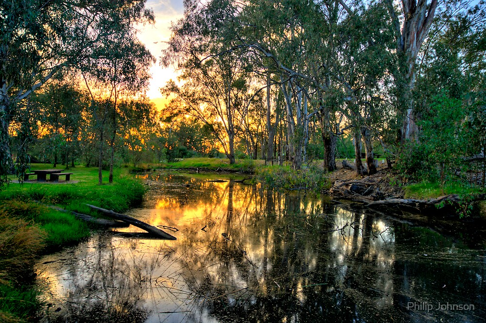Billabong - Wonga Wetlands, Albury - The HDR Experience by Philip Johnson