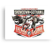 Batman vs Superman - Battle of the Worlds Finest Canvas Print