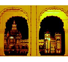 Mysore Palace at night Photographic Print
